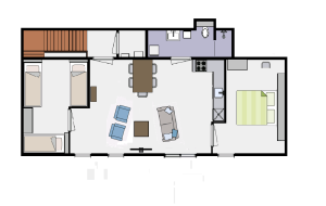 appartement plattegrond
